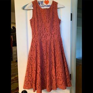 Garnet Hill size 6 women's lace overlay dress